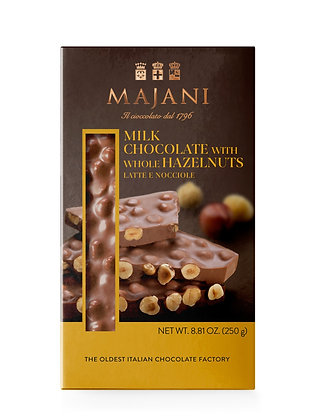 SNAPS Milk Chocolate with Whole Hazelnuts 250gr