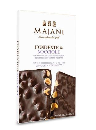 MAJANI 1796 - Dark Chocolate with Whole Hazelnuts  bar 250gr