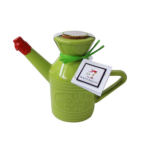 Extra Virgin Olive Oil in Fancy Ceramic Dispenser 350ml (Green)