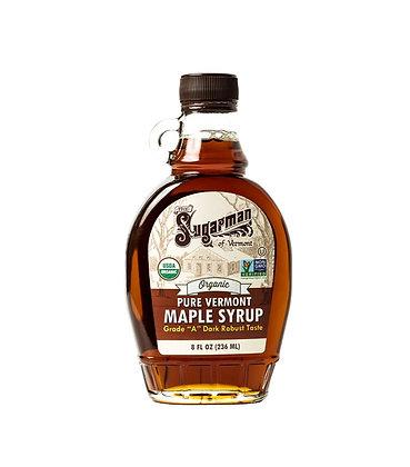 "100% Pure Organic Maple Syrup Grade "" A "" Dark Robust - 236ml Glass Jar"