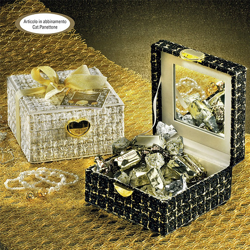 Assorted Small Soft Nougats Flamigni in Elegant Jewelry Case with Mirror
