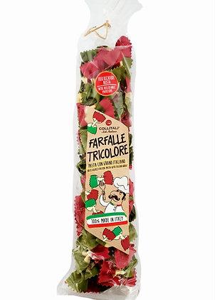 Farfalle Tricolore Pasta with 100% Italian Wheat
