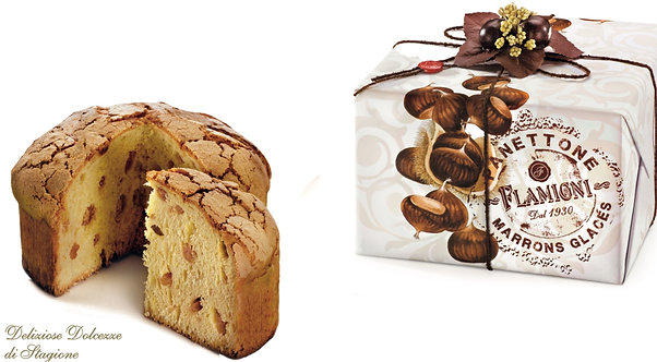 The Marrons Glacés Gourmet Panettone in gift box 1kg