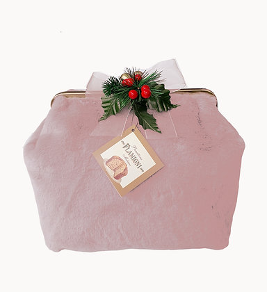 Panettone Flamigni Milano Classic in Luxury Pink Fur Bag - gr. 750