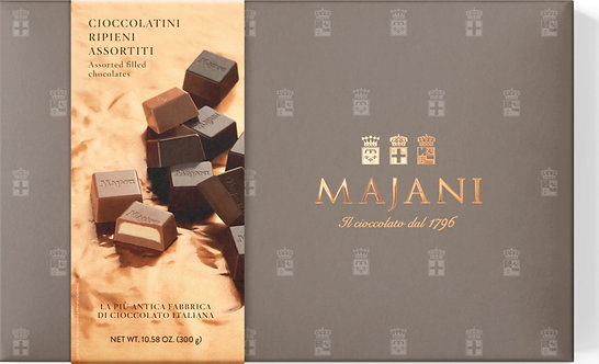 """Istituzionale"" MAJANI Gift Box Assorted Milk & Dark Filled Chocolates - 300gr"