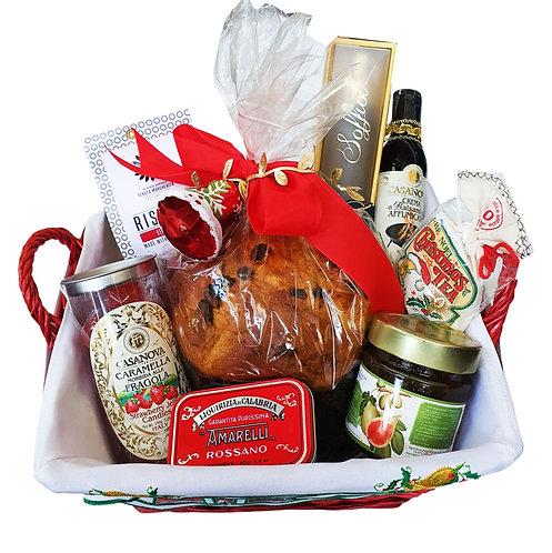Santa Red Gift Panettone Gourmet Hamper