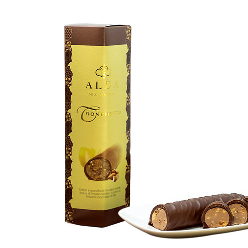 Tronchetto Toasted Almonds & Milk Chocolate Coating 200gr