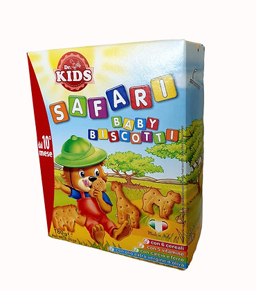SAFARI Animal Shaped Biscuits - 6 Cereals 5 Vitamins Calcium, Iron from 10 month