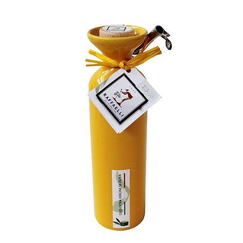 Extra Virgin Olive Oil in Ceramic Dispenser (Yellow) 250ml