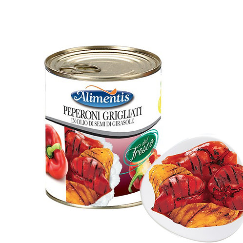Red & Yellow Grilled Peppers, in Sunflower Seed Oil - 780 gr