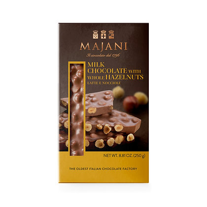 ASSORTED SNAPS Milk chocolate with whole hazelnuts 250gr