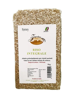 Italian Brown Whole Rice 1 kg