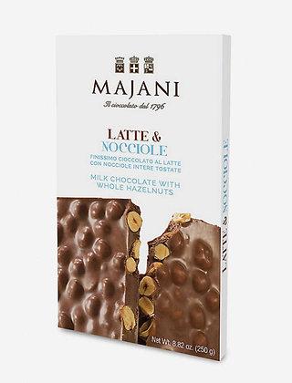MAJANI 1796 Milk Chocolate with Whole Hazelnuts  bar 250gr