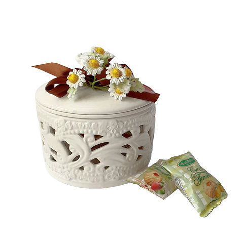 Assorted Fruit Pastry in Ceramic Jar - Flamigni
