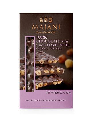 SNAPS Dark chocolate with whole hazelnuts 250gr