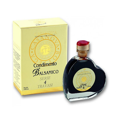 """Mignon Balsamic Condiment """"FINE"""" Hearth Glass Shape 4 Years Old"""