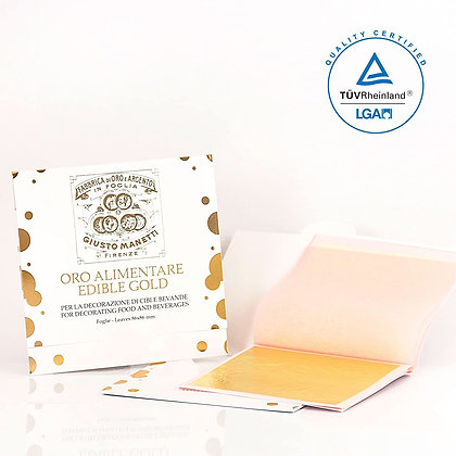 Edible Gold 23 Karat  - Booklet with 25 transferrable leaves