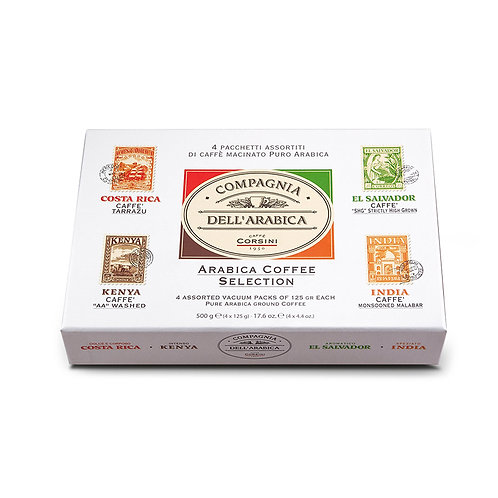 Gift Set 4 Assorted 125gr Packets Of Arabica Coffee