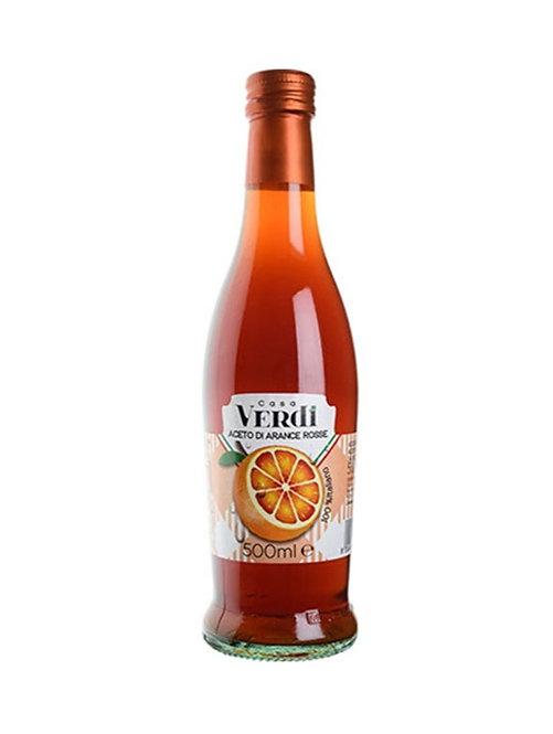 """BLOOD ORANGE VINEGAR - """"CASA VERDI"""" 5% acidity 500ml"""
