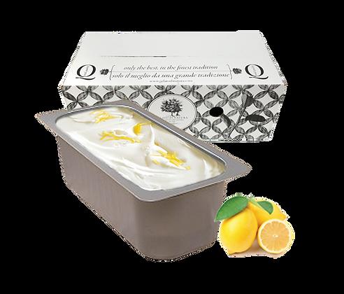 Lemon Fruit Italian Gelato Ice Cream Tub - 5lt