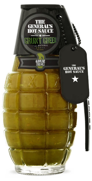 THE GENERAL'S HOT SAUCE GRUNT GREEN - 180 ml