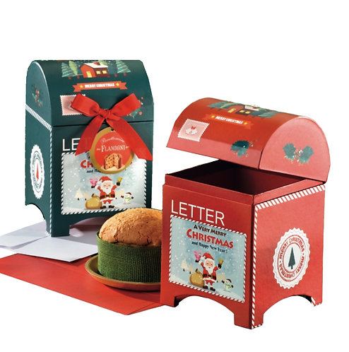 Small Sugar Iced Panettone in Cardboard Mailboxes 100g