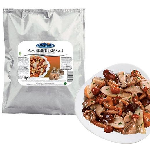 Mix Wild Mushrooms with Porcini Boletus Sauteed - ALIMENTIS - 1 kg