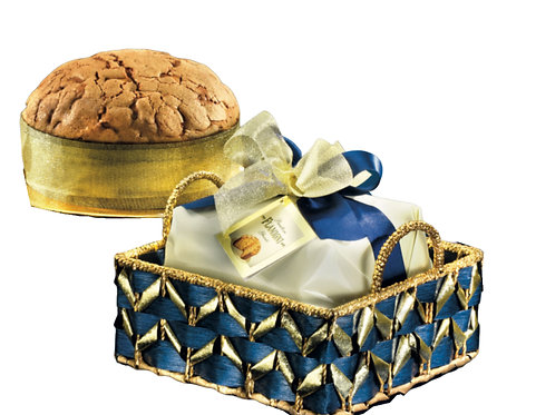 Flamigni Sugar Iced Panettone in Gift Basket - 750g