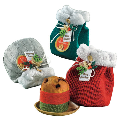 Small Milan Panettone in wool decor bags 80g