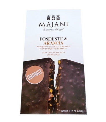 MAJANI 1796 - Dark Chocolate with Orange Peel Bar 250gr