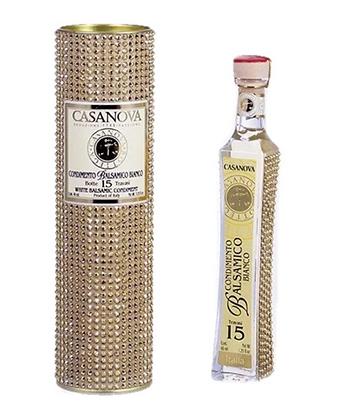 Casanova White Balsamic Condiment Gold Crystals Tube Gift - 40ml