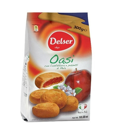 """OASI"" frollini biscuits filled with apple - 270gr bag"
