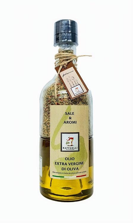Italian Extra Virgin Olive Oil 250ml and Spices Rock Salt condiment 230gr