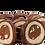 Thumbnail: ALDA - Tronchetto Milk Chocolate  Almonds - 250gr