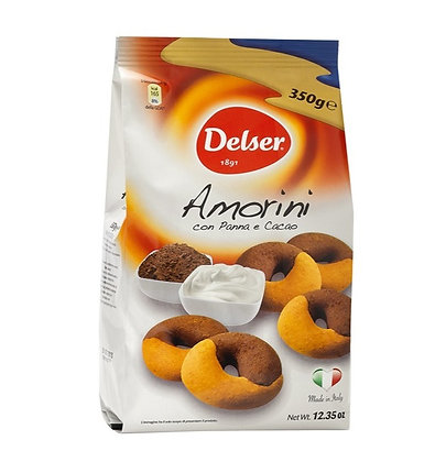 """AMORINI "" : frollini biscuits cocoa and cream - 350gr bag"