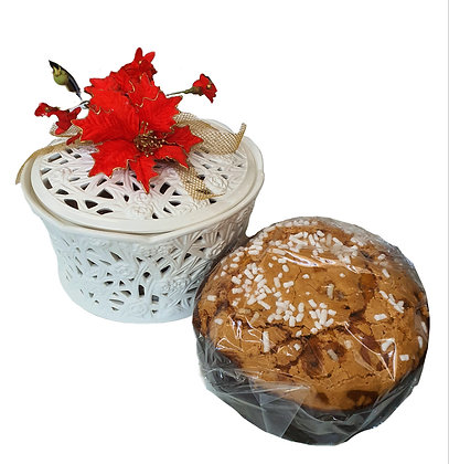 Panettone Sugar Iced Glazed 1kg in Luxury Ceramic Box
