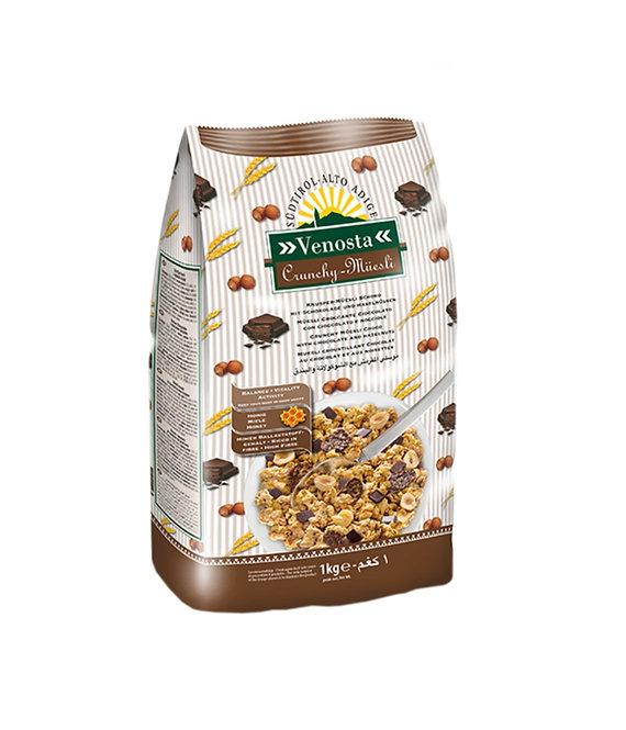 Crunchy Muesli with Chocolate & Hazelnut - 1 kg