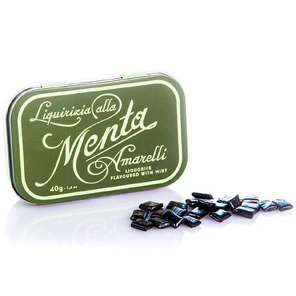 Licorice flavored natural mint - Tin 40 gr