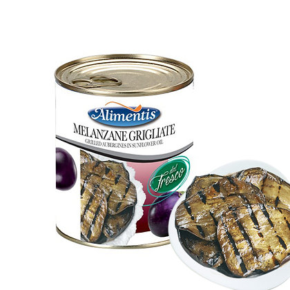 Grilled Aubergines in Sunflower Oil Gluten Free - ALIMENTIS - 780 gr