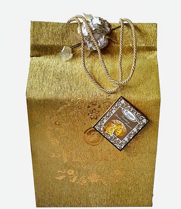 Sugar Iced Panettone Flamigni With Almonds in Luxury Gift Bag