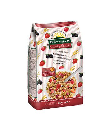 Crunchy Muësli with Strawberries and Raspberries - 1kg