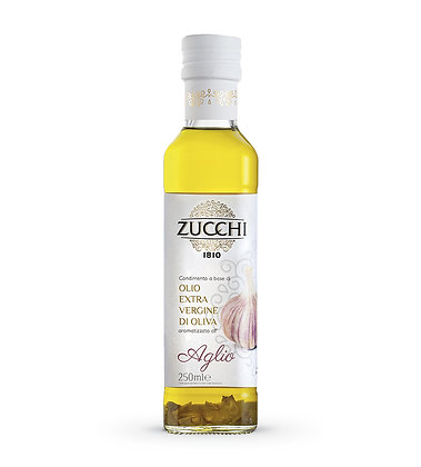 """Extra Virgin Olive Oil with """"Garlic"""" flavored"""