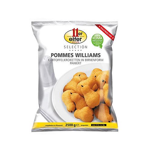 Pommes  Williams Pear Shaped Potato Croquettes, Breaded, Slightly Prebaked 2.5kg