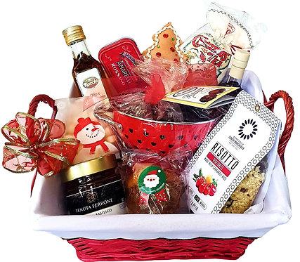 Santa Red Gourmet Basket Hamper