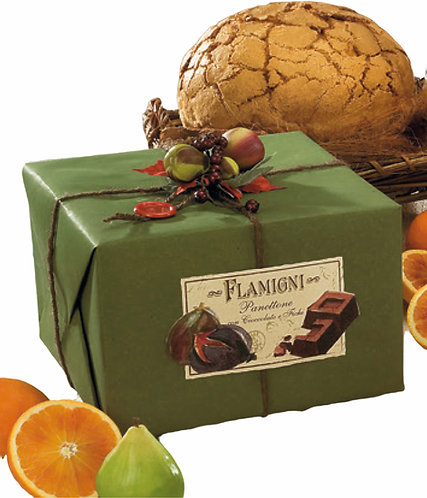 Gourmet Panettone Flamigni Figs and Dark Chocolate - 1 kg