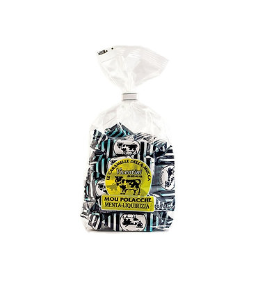 Mou Polacche Candies Licorice and Mint - 270gr Bag