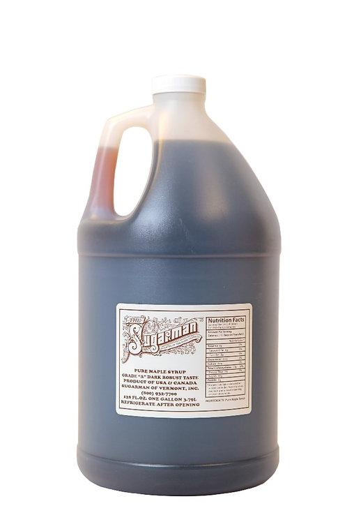 100% Pure Maple Syrup - Grade A  Dark Robust - 1 gallon