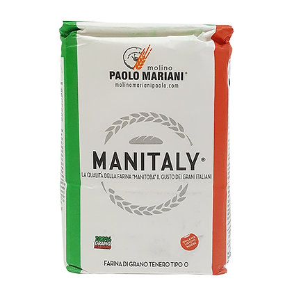 "Flour type ""0"" Manitaly - Same features of Manitoba with 100% Italian grains 1kg"