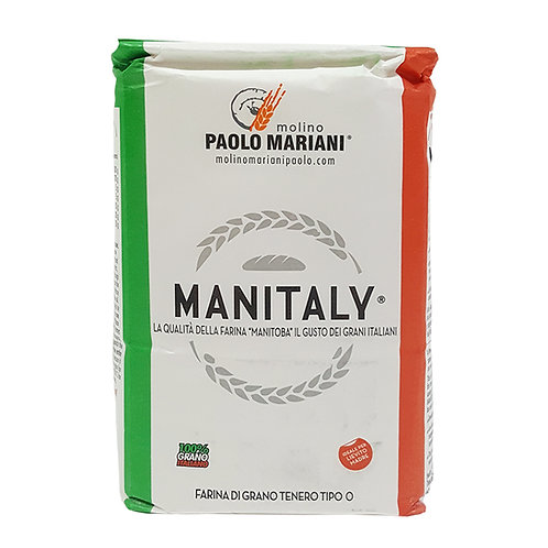 """Flour type """"0"""" Manitaly - Same features of Manitoba with 100% Italian grains 1kg"""