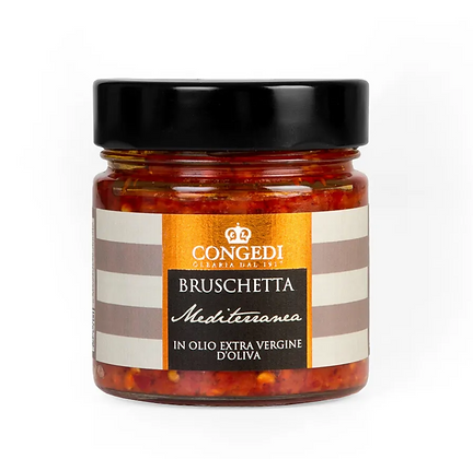 Bruschetta Mediterranean in Extra Virgin Olive Oil - 220gr